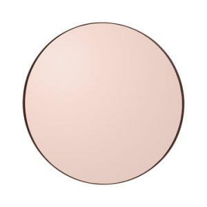 Circum mirror rond medium roze