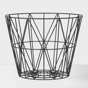 wire basket large zwart