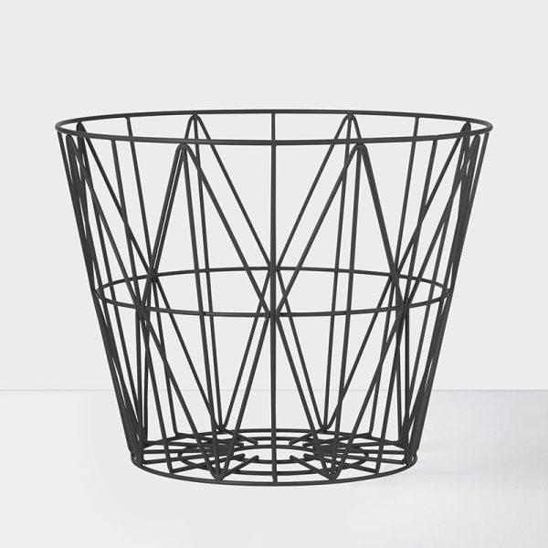 wire basket medium formaat zwarte uitvoering