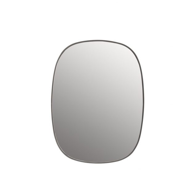 Framed mirror small grey muuto