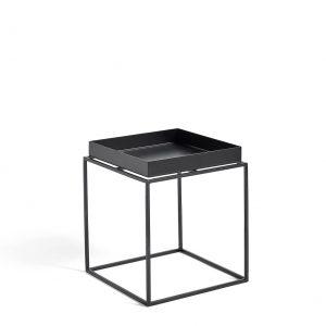 Hay tray tafel zwart 30x30