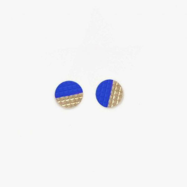 lucky blauw oorbellen