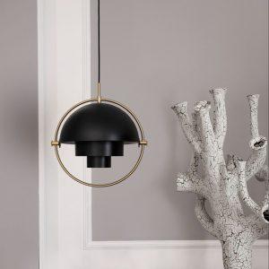 Multi-Lite hanglamp zwart messing gubi