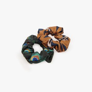 wouf peacock swallow scrunchies
