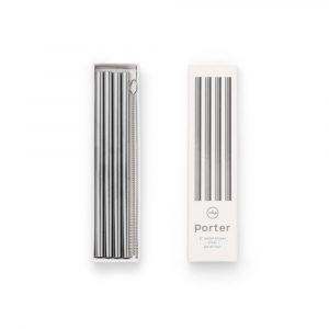 W&P design metal staw small silver