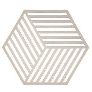 zone potonderzetter hexagon warm grey