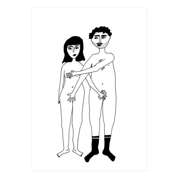 helen b naked couple poster