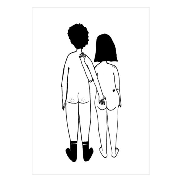 helen b naked couple back poster