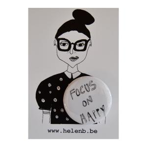 helen b button focus on happy