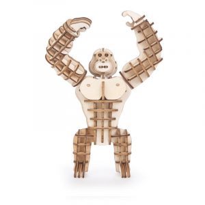 kikkerland 3D houten puzzel gorilla