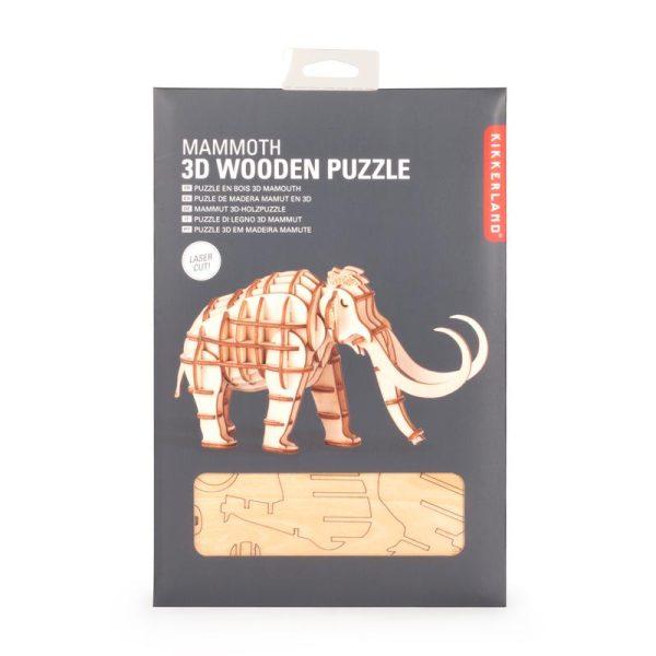 kikkerland 3D houten puzzel mammoet