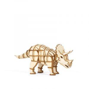kikkerland 3D houten puzzel triceratops