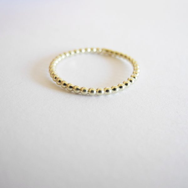 Nimzu beaded ring goud
