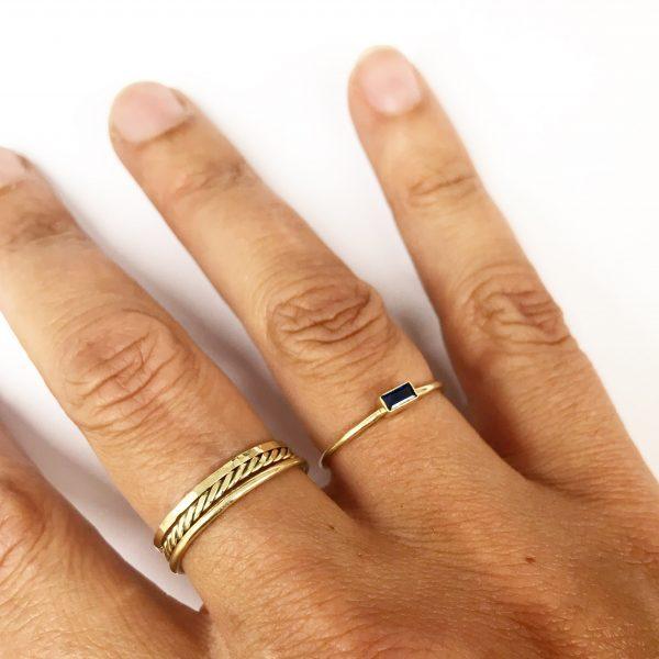 Nimzu beaded ring goud