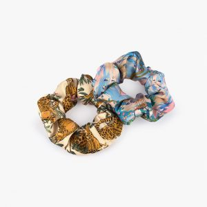 wouf delhi lazy jungle scrunchies