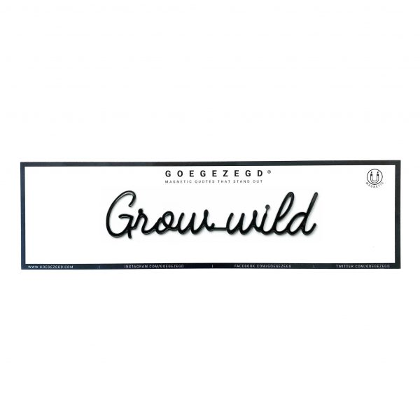 Goegezegd grow wild magneet zwart