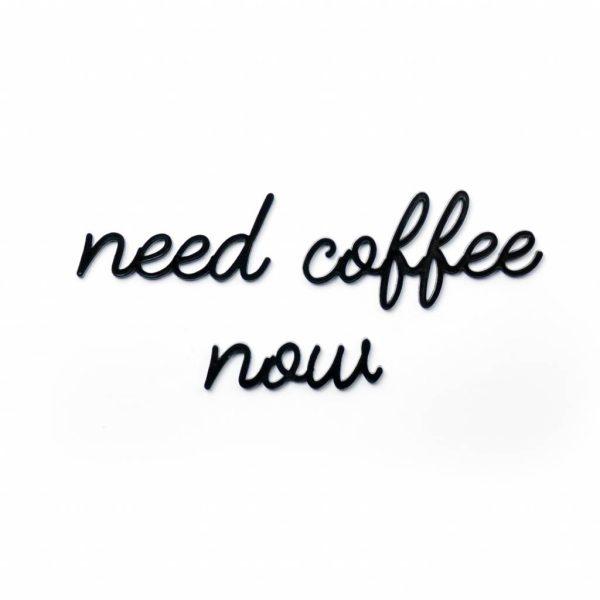 goegezegd need coffee now A5 quote zwart