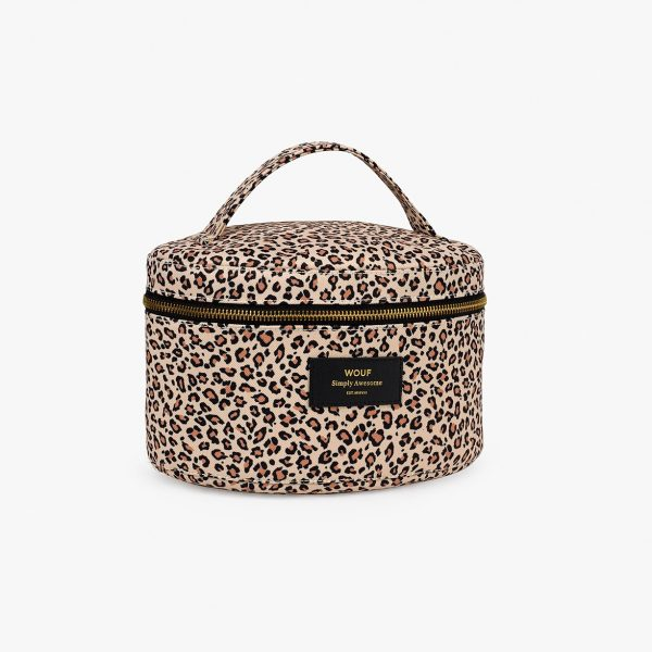wouf pink savannah xl makeup bag