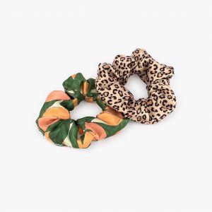wouf pink savanne peach scrunchie