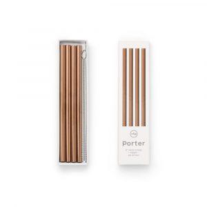 W&P design metal staw small copper