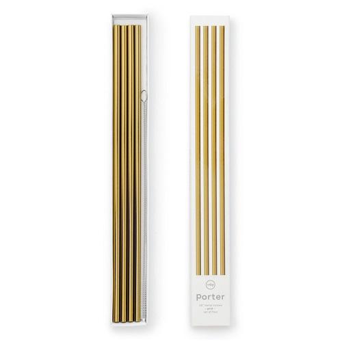 W&P design metal staw large gold