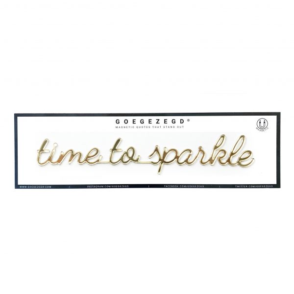 Goegezegd time to sparkle magneet