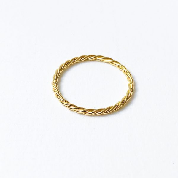 Nimzu twisted ring goud