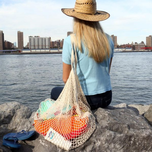 kikkerland XL cotton net carry-all bag