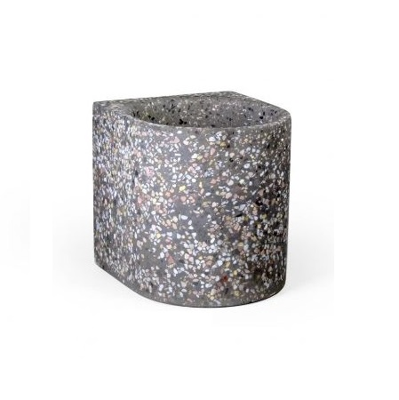 atelier pierre flower pot medium terrazzo dark