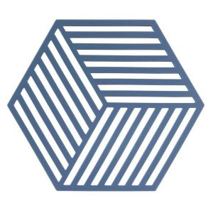 zone potonderzetter hexagon denim