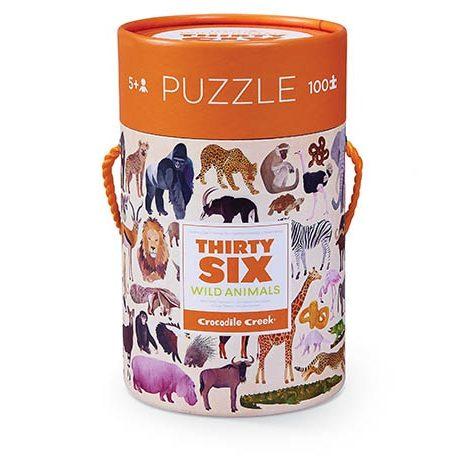 wild animals puzzel