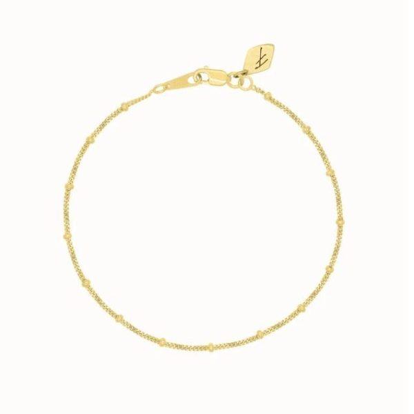 Flawed dotted bracelet goud