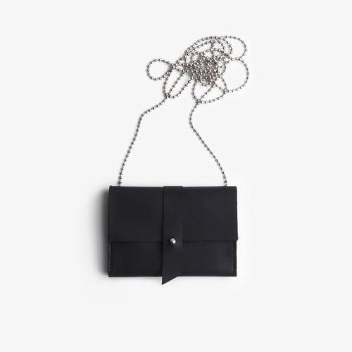 mini portemonnee medium zwart