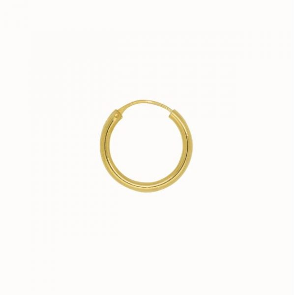Flawed plain hoop gold 18mm