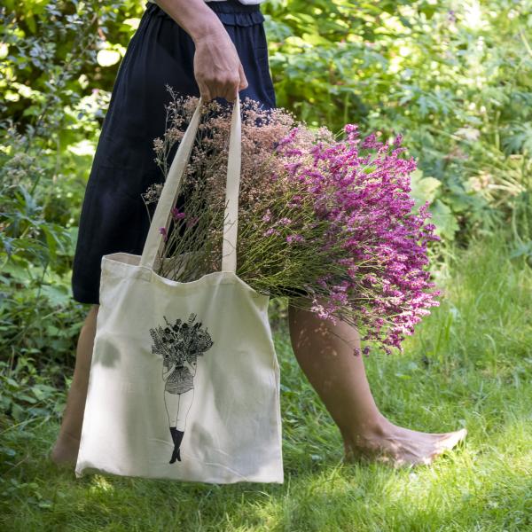 tote bag flower girl