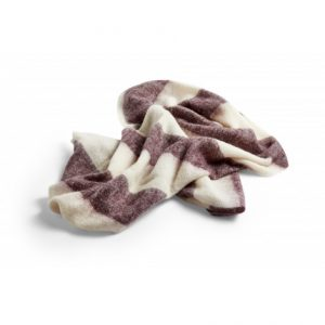 Hay mohair plaid burgundy