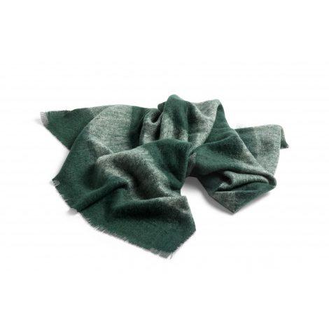 Hay mohair plaid groen