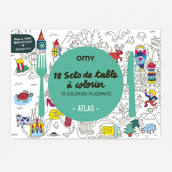 OMY placemats atlas