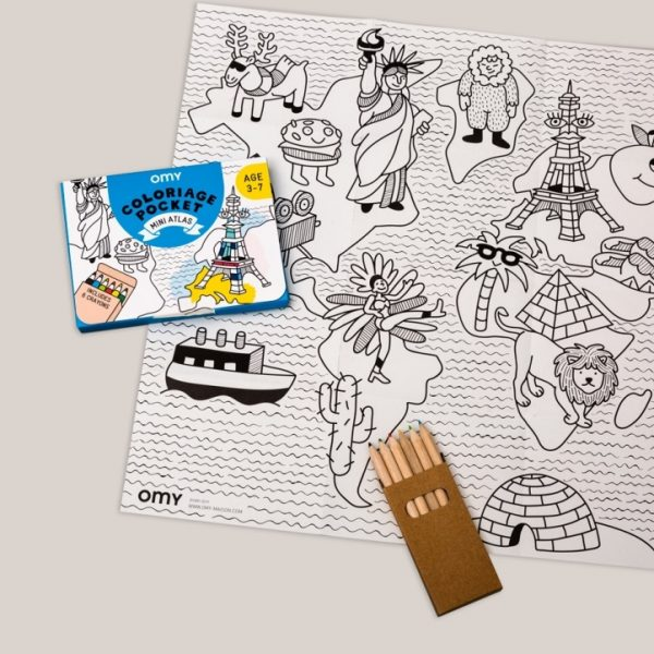 OMY coloring pocket atlas