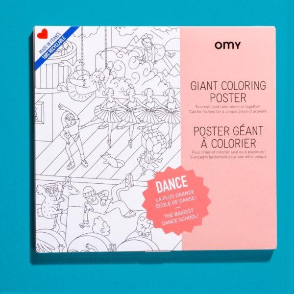 OMY kleurplaat dance